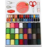 100pcs Sewing Kit Measure Scissor Thimble Thread Needle Tape with Storage Box for Home Sew & DIY