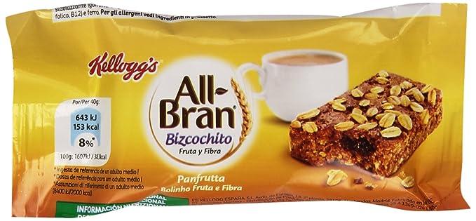 KelloggS - All Bran - Bizcochito de trigo y avena rico en fibra con pasas sultanas