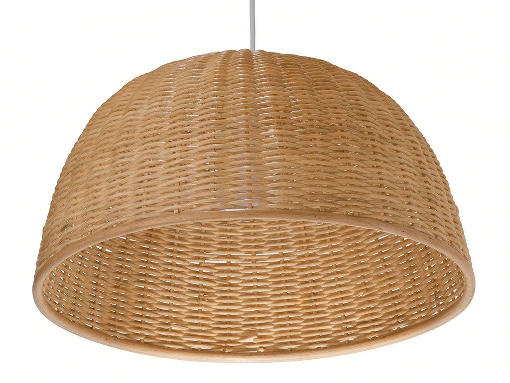 Kouboo 1050031 wicker dome pendant light 19 5 x 19 5 x 17 5 natural