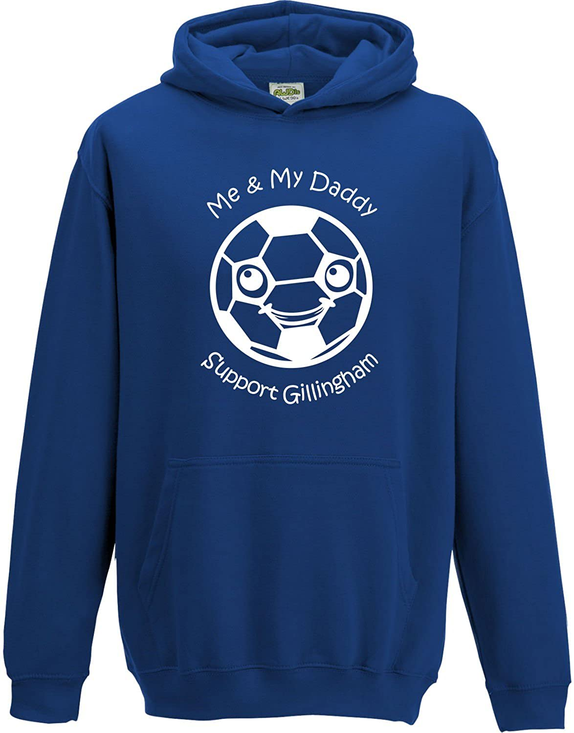Hat-Trick Designs Gillingham Football Baby/Kids/Childrens Hoodie Sweatshirt-Royal Blue-Me & My-Unisex Gift