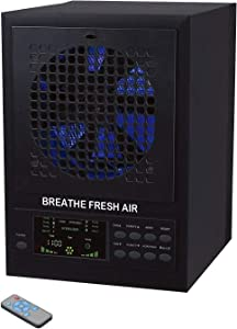Breathe Fresh 5-in-1 Air Purifier w/UV, Ozone Power, Ionizer Odor Reducer, PCO Filtration Cleaning