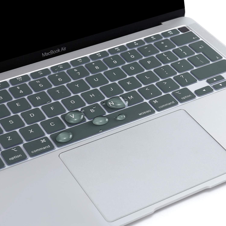 Nero MOSISO Tastiera Cover Solo Compatibile con MacBook Air 13 Pollici 2020 A2179 Backlit Tastiera Magica con Display Retina /& Touch ID Impermeabile Antipolvere Silicone Protettiva