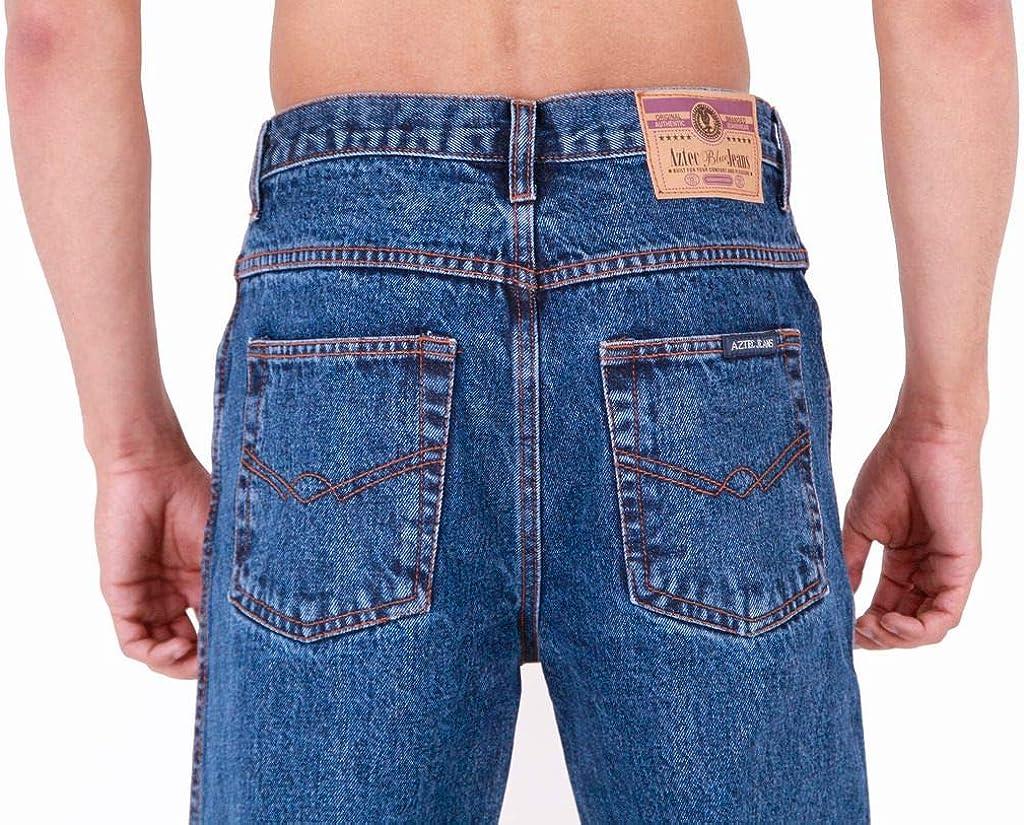 Mens Aztec Heavy Duty Basic Straight Leg Regular FIT Jeans