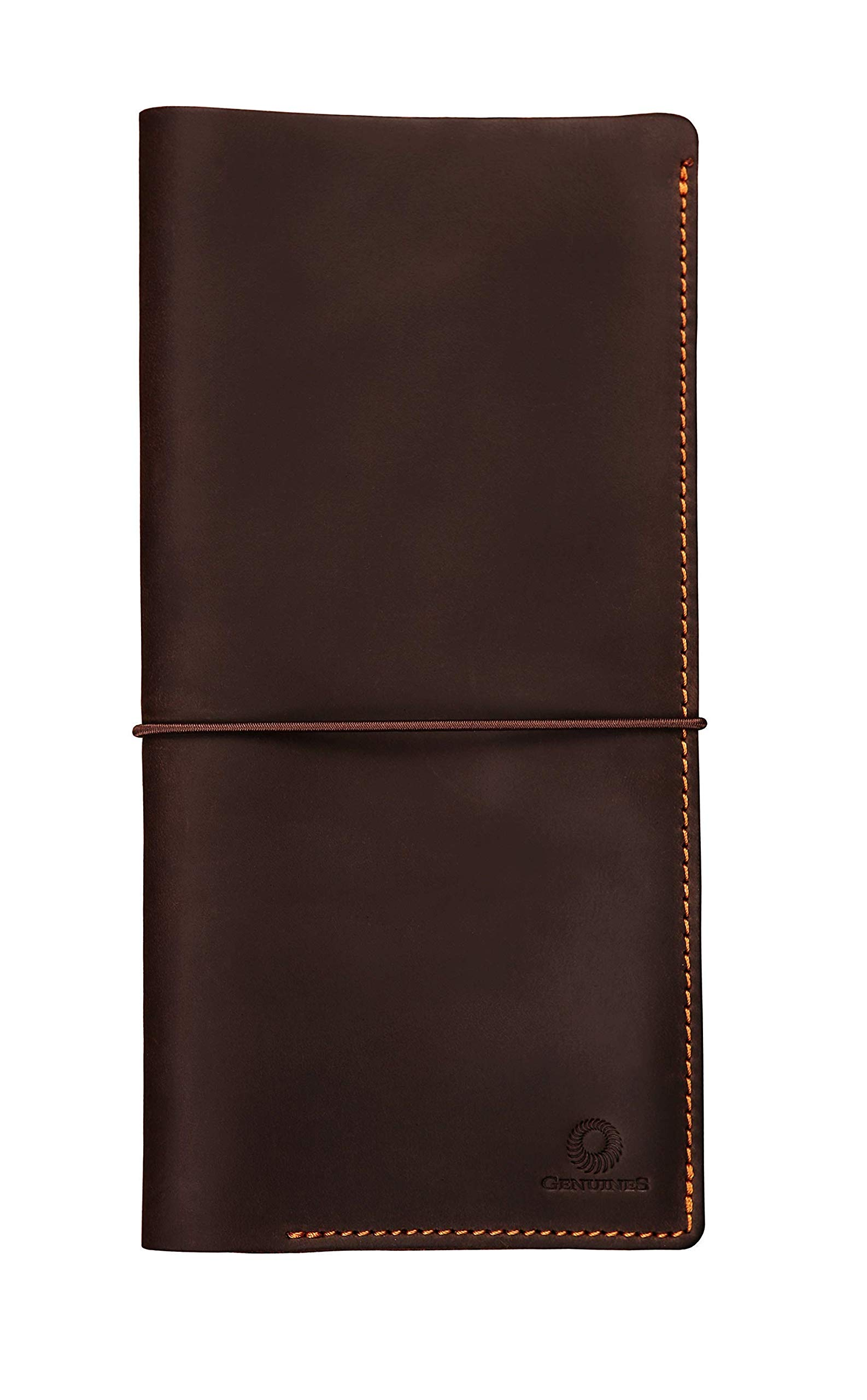 Genuines Long Leather Travel Wallet - Boarding Pass Passport Holder with Strap by Genuines
