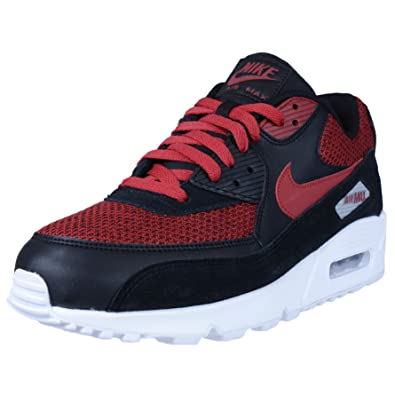 d2d86587b8 Nike Air Max 90 Essential Lifestyle Casual Sneakers Mens Black/Tough red-Tough  red New 537384-076 - 8. 5: Buy Online at Low Prices in India - Amazon.in