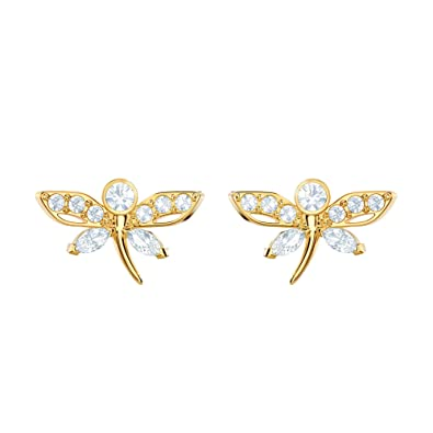 759697297 Image Unavailable. Image not available for. Color: Swarovski Crystal  Magnetic Dragonfly Stud Earrings