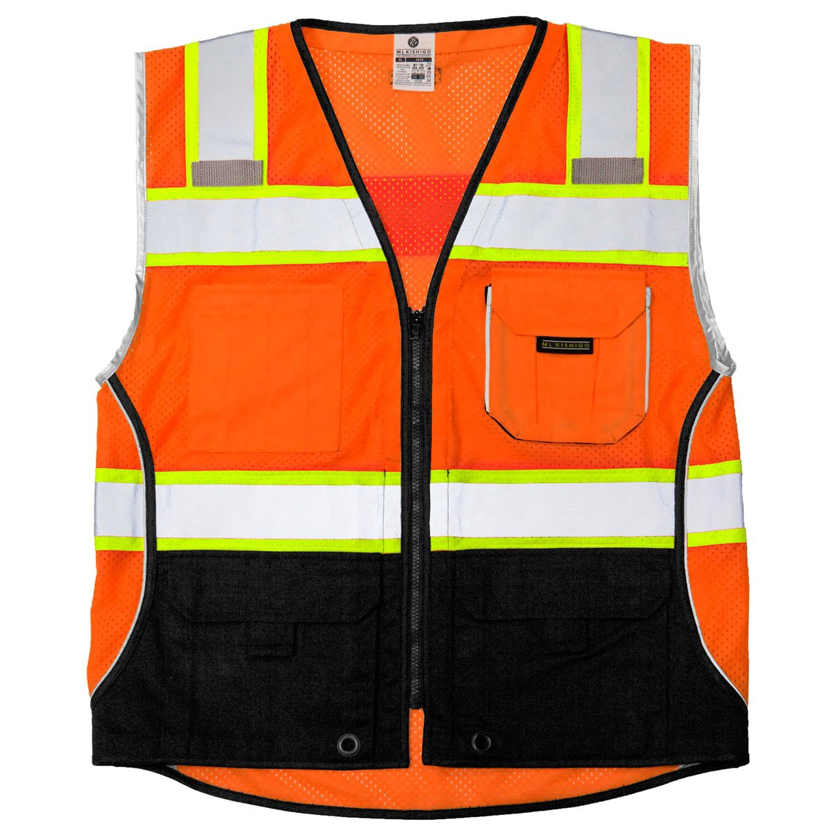 Safety Vest, M, Orange, Male by ML Kishigo