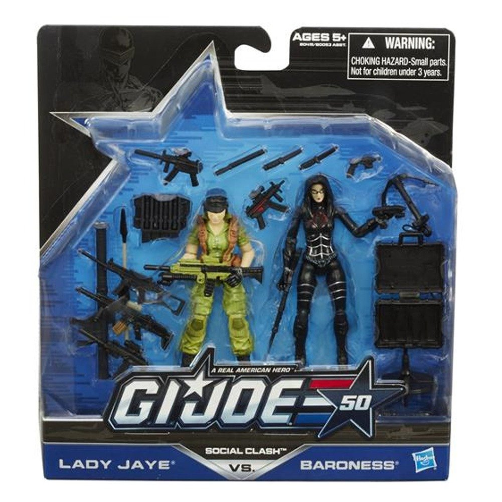 Joe G.I Social Clash Lady Jaye vs. 50th Anniversary Action Figure Set