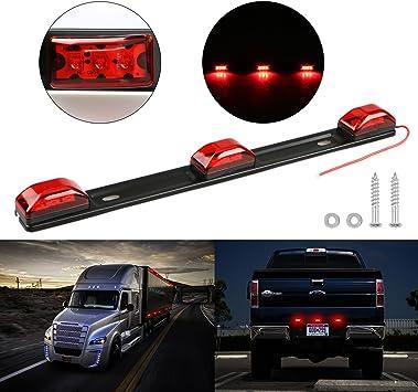 9LED Clearance BAR ID Marker Light Waterproof Sealed For Car Truck Trailer SUVs