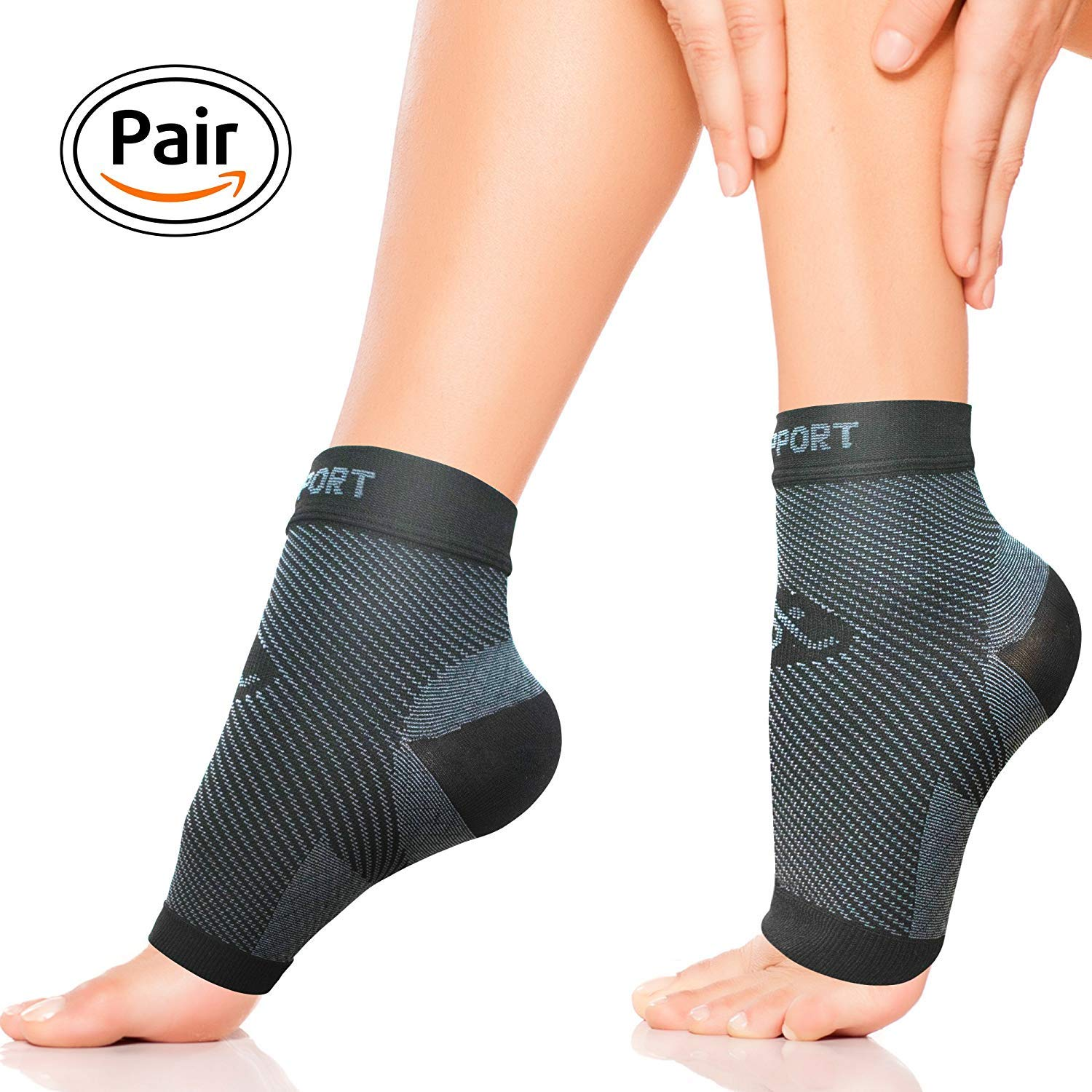 Plantar Fasciitis Socks for Men and Women - Foot Compression Sleeves for Arch Pain - Heel Spur - Achilles Tendon Pain - Foot Sweling by PURE SUPPORT.