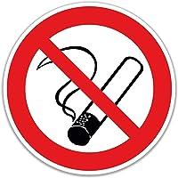 Pegatinas prohibidas Fumar, 15 Unidades, 7 cm