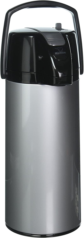 Zojirushi Premier Air Pot Beverage Dispenser, 2.2 Liter, Silver