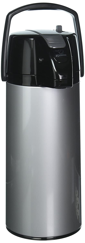 Zojirushi AASB-22BSV Premier Air Pot® Beverage Dispenser, Silver