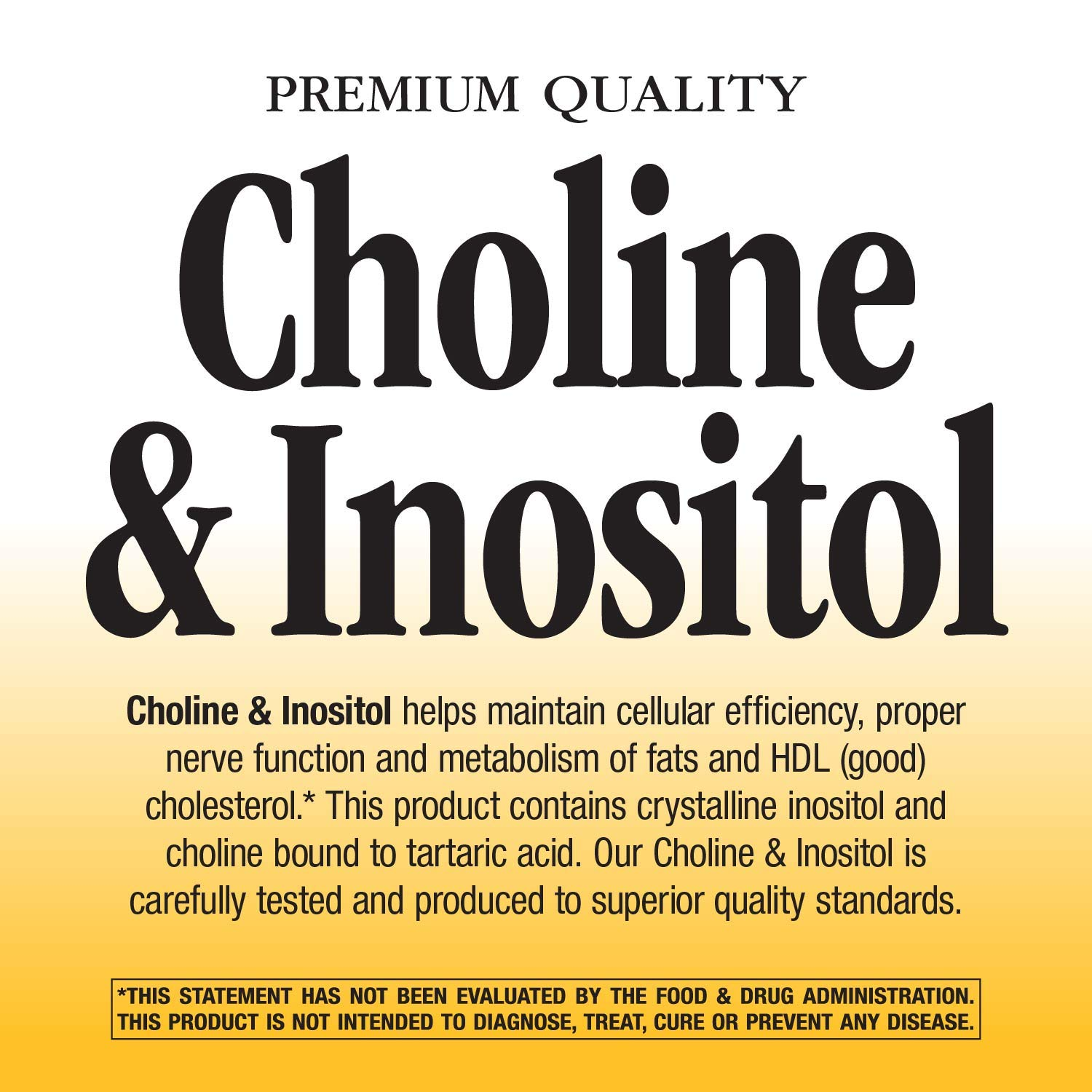 Nature's Way Choline and Inositol, 500mg, 100 Capsules by Nature's Way (Image #4)