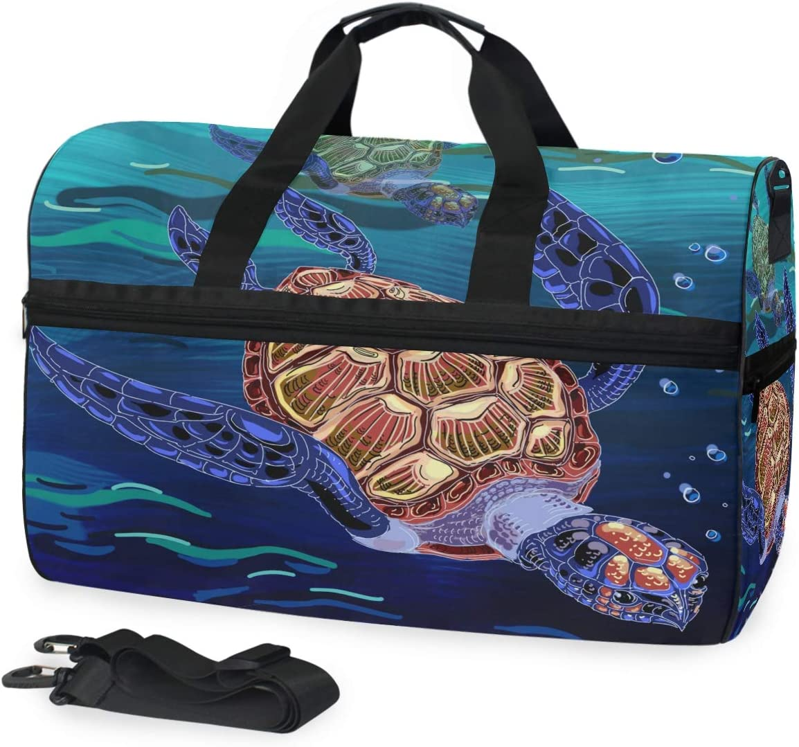 Ocean Animal Duffle Bag for Travel Gym Sports Lightweight Luggage Duffel Bags