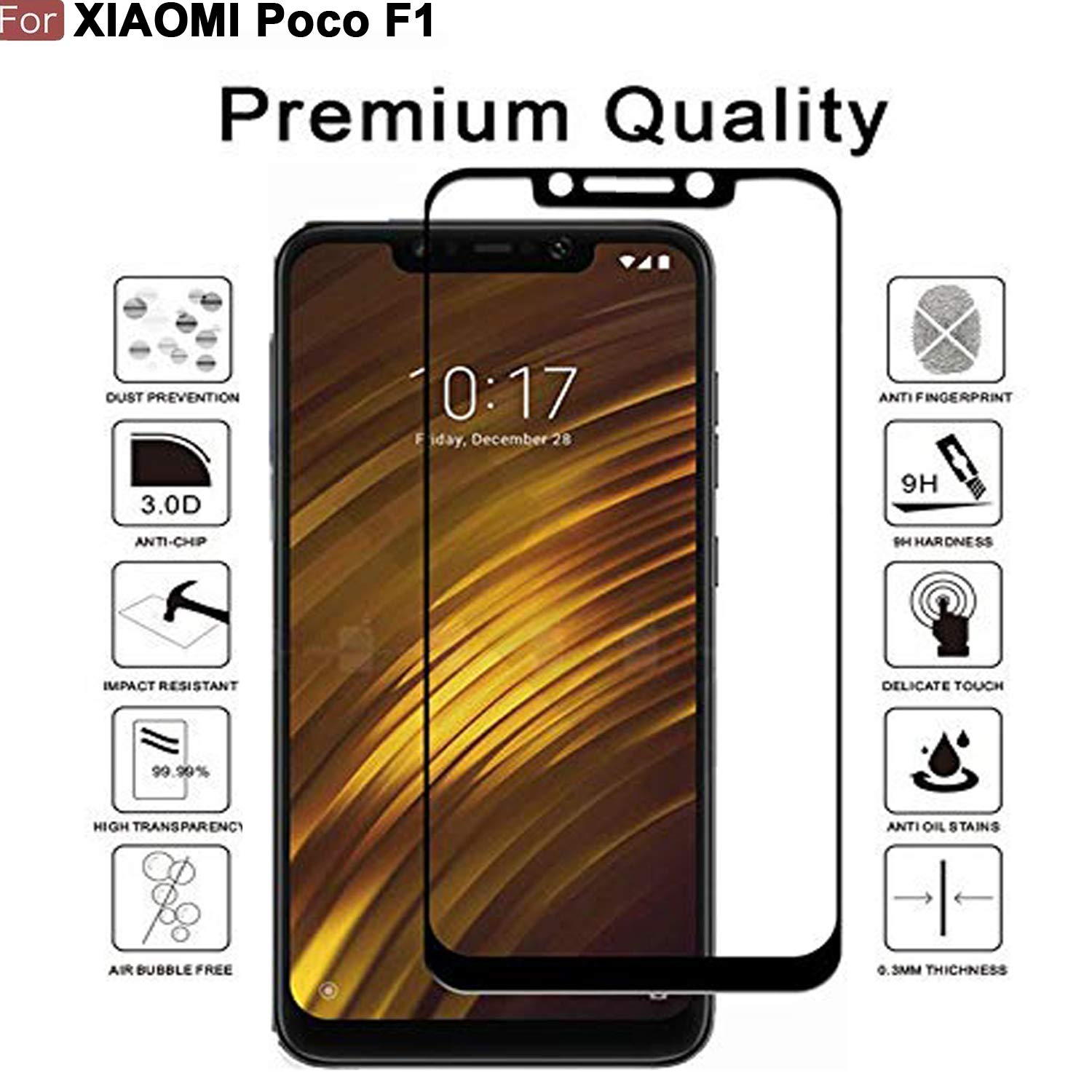Cedo Xpro 5D Edge to Edge 9H Tempered Glass Screen Amazon Electronics