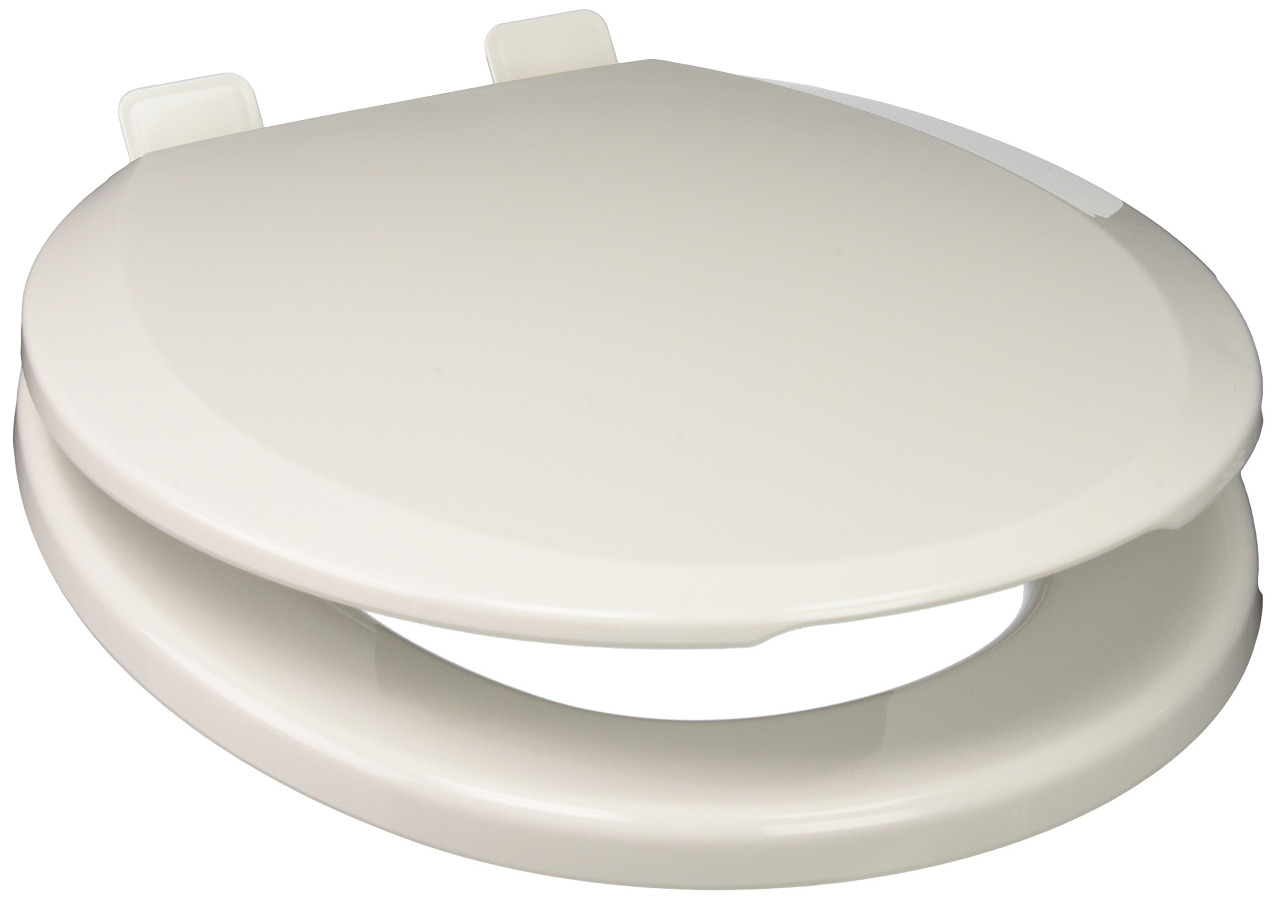 PlumbTech 250-00 Deluxe Slow Close Round Toilet Seat with Adjustable Hinge, White