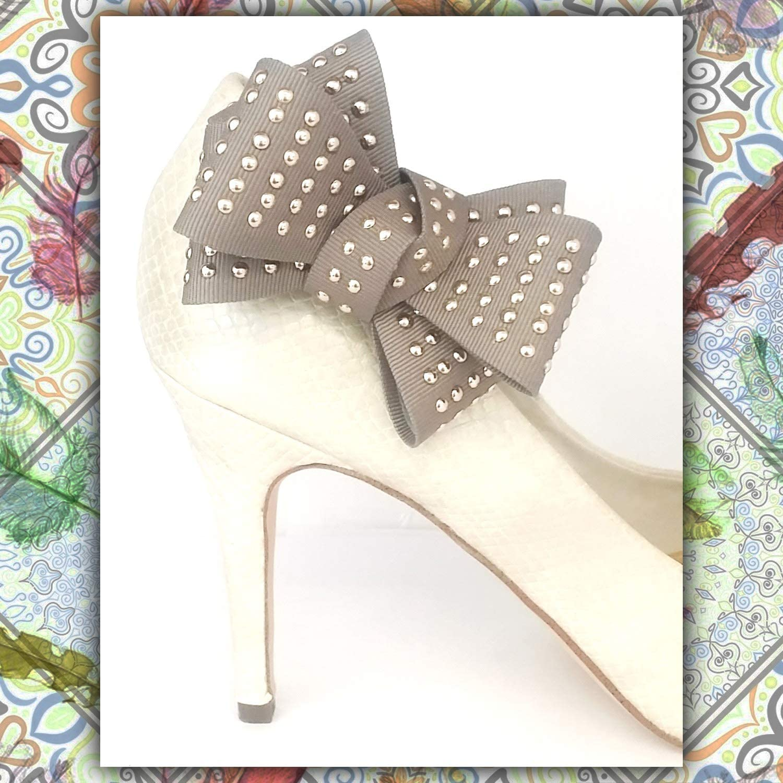 Amovible Accessoires Bijoux de chaussures La Loria Femme 2 Clips Chaussures Rivet Bow