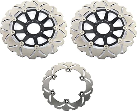 TARAZON 1 Pair Front Brake Discs Rotors for Honda GL1500 Valkyrie 97-03 GL1800 GoldWing Gold Wing 2001-2016 XL1000V