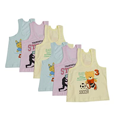 81d986db0 Littly Unisex Printed Cotton Baby Vests