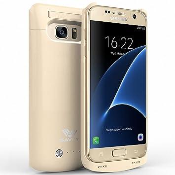 Funda Batería Galaxy S7 , SAVFY® Case carcasa Con Batería Cargador-batería Externa Recargable 4200mAh Para Samsung Galaxy S7 (Oro)