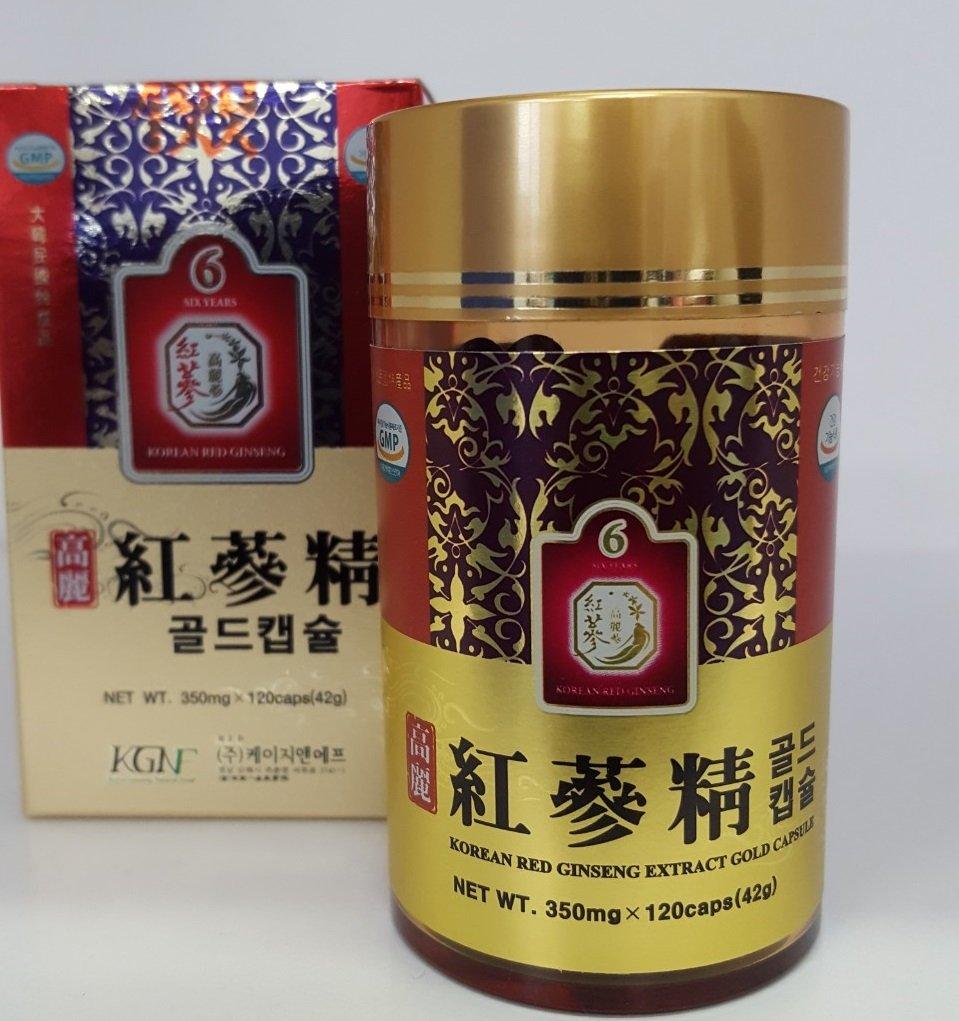 高麗紅参精GOLDカプセル(120粒)6年根紅参 B073CS1Z5H