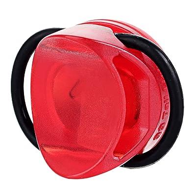 Ipx3étanche 3modes lumière rouge LED de sécurité avertissement Queue de vélo léger, puissant lumineux et facile à installer les vélos, casques