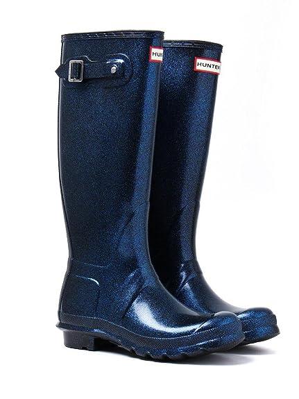 Hunter Wellies Women's Original Starcloud Tall Wellington Boots - Neptune,  Blue, ...