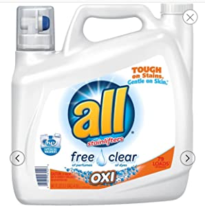 all with Stainlifters Oxi Free Clear Liquid Laundry Detergent, 141 fl oz (1)