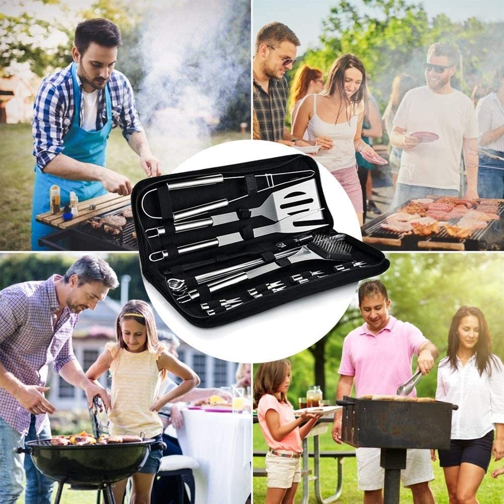 WeiCYN Barbecue Griller Outils BBQ Ustensiles Outils Barbecue en Acier Inoxydable Set Camping en Plein air Outils de Cuisson Barbecue Grill Accessoires (Color : 7Pcs Set) 7pcs Set