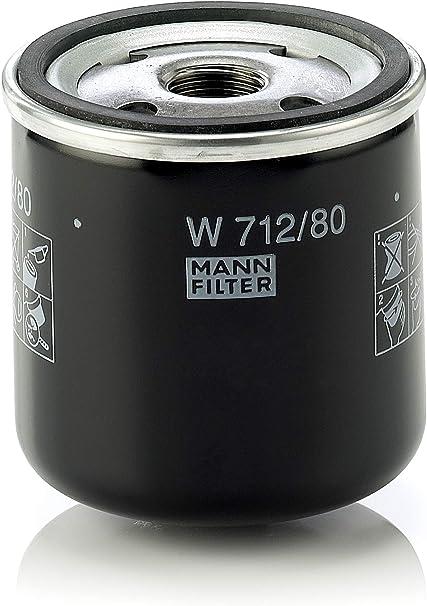 Original Mann Filter W 712 80 Schmierölwechselfilter Für Pkw Auto