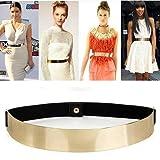 ALAIX Fashion Womens Gold Mirror Stretch Waist Dress Belt