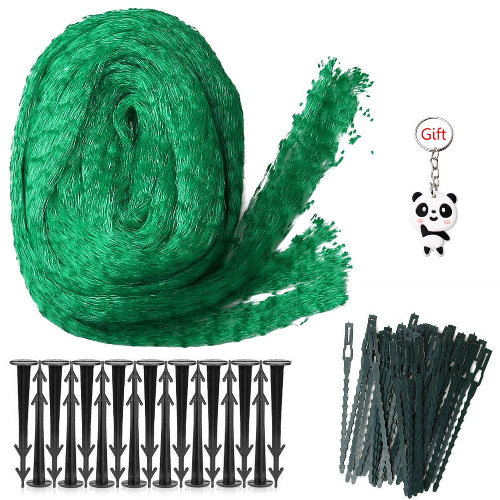 Garden Pond Plant Protection Mesh Netting with Garden Pegs bags Cable Ties 10m Anti Bird Netting kuou 4