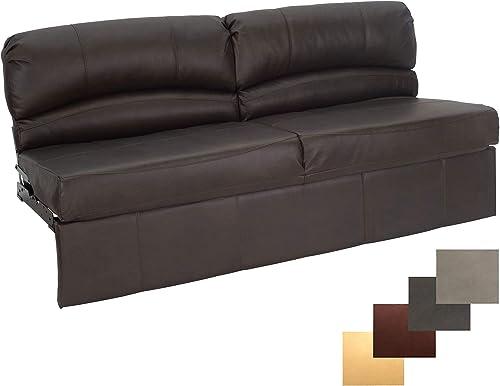 RecPro Charles RV Jackknife Sofa Love Seat Sleeper Sofa Length Options 62 , 68 , 72 72 Inch, Chestnut