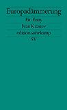 Europadämmerung: Ein Essay (edition suhrkamp)