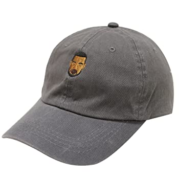 C104 Kanye West Emoji Cotton Baseball Cap Charcoal
