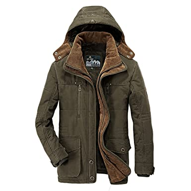 e5573d5e0828 Mens Winter Down Jacket Wholesale Thickened Outwear Coats Dark Army Green XL