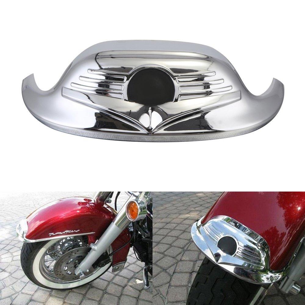 CICMOD Socket Front Amber Light Mudguard Fender Tip For Harley Davidson Road King