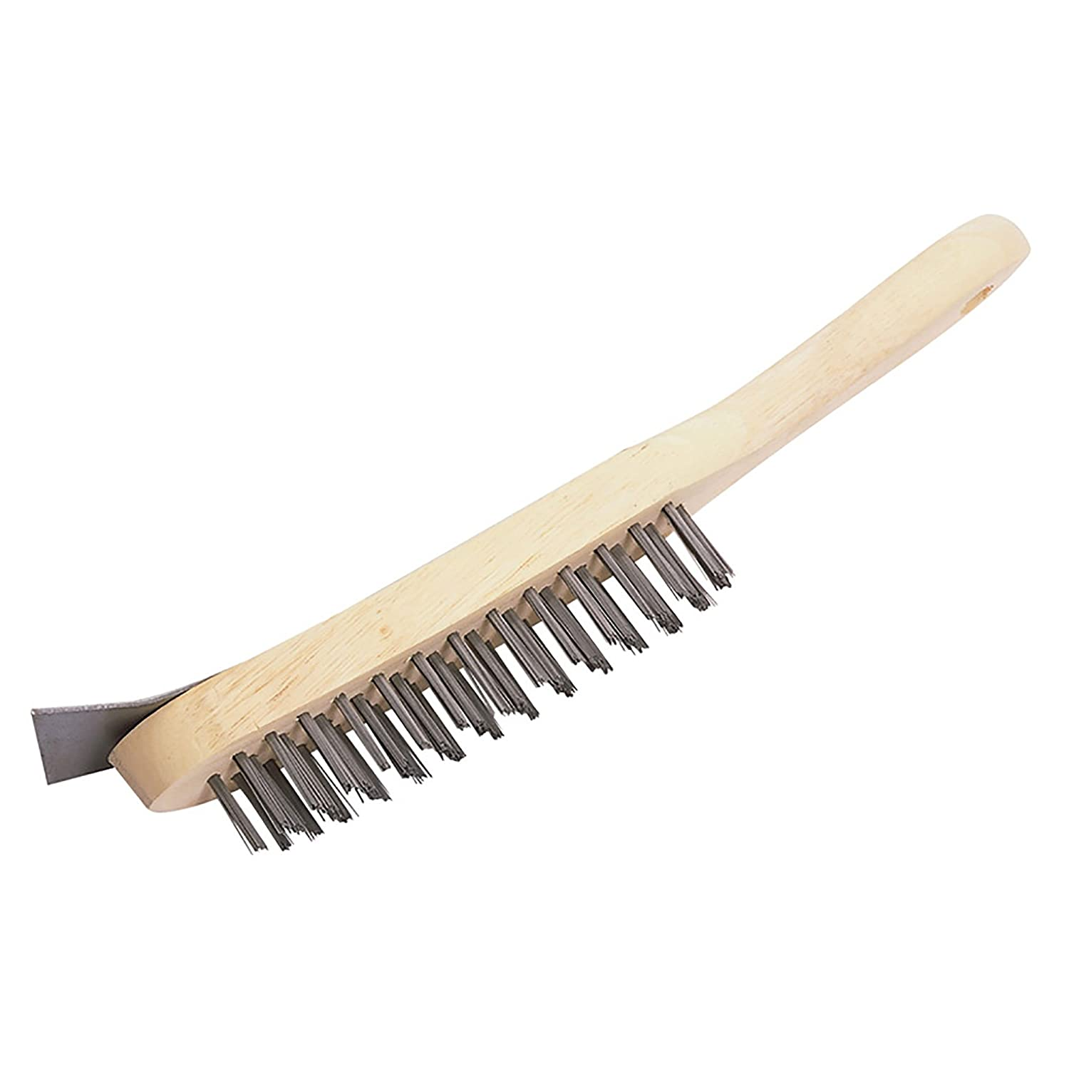 The Hill Brush HN502 Heavy-Duty Wire Scratch Brush and Scraper, 4 Row