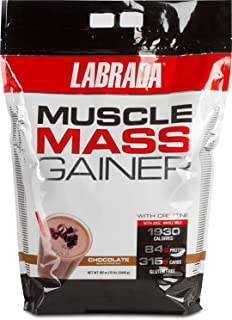 Labrada Muscle Mass Gainer (Gain Weight, Post Workout,84g Protein, 315g Carbs, Gluten Free, 17g BCAA, 20 Vitamins & Minerals,16 Servings) - 12 lbs (5.44 kg) (Chocolate)
