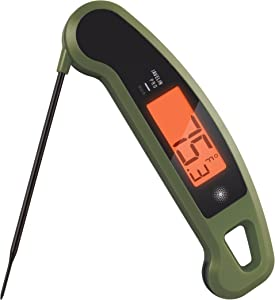 Lavatools Javelin PRO Duo Ambidextrous Backlit Professional Digital Instant Read Meat Thermometer for Kitchen, Food Cooking, Grill, BBQ, Smoker, Candy, Brewing, Coffee, and Oil Deep Frying (Olive)