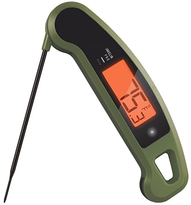 Lavatools Javelin PRO Duo Limited Edition 001 Ambidextrous Backlit Instant Read Digital Meat Thermometer (Olive Drab)