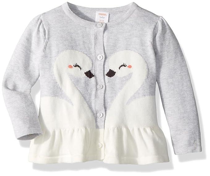 8d92628cd379 Amazon.com  Gymboree Baby Girls Swan Cardigan