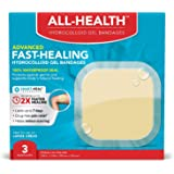 All Health Advanced Fast Healing Hydrocolloid Gel Bandages, Extra Large Wound Dressing, 3 ct | 2X Faster Healing for…