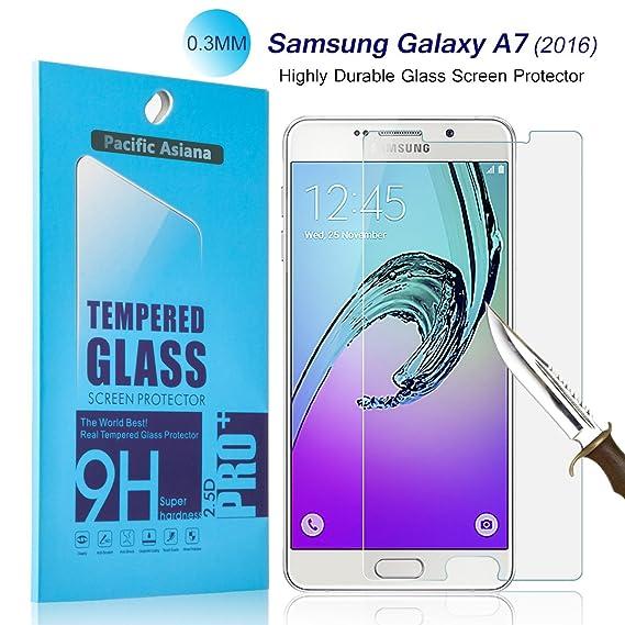 Amazon com: Galaxy A7 2016 Screen Protector Glass, Pacific