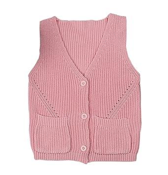 2932b71af5e1 Amazon.com  Baby Little Boys Girls Knit Sweater Vest Kids Cotton V ...