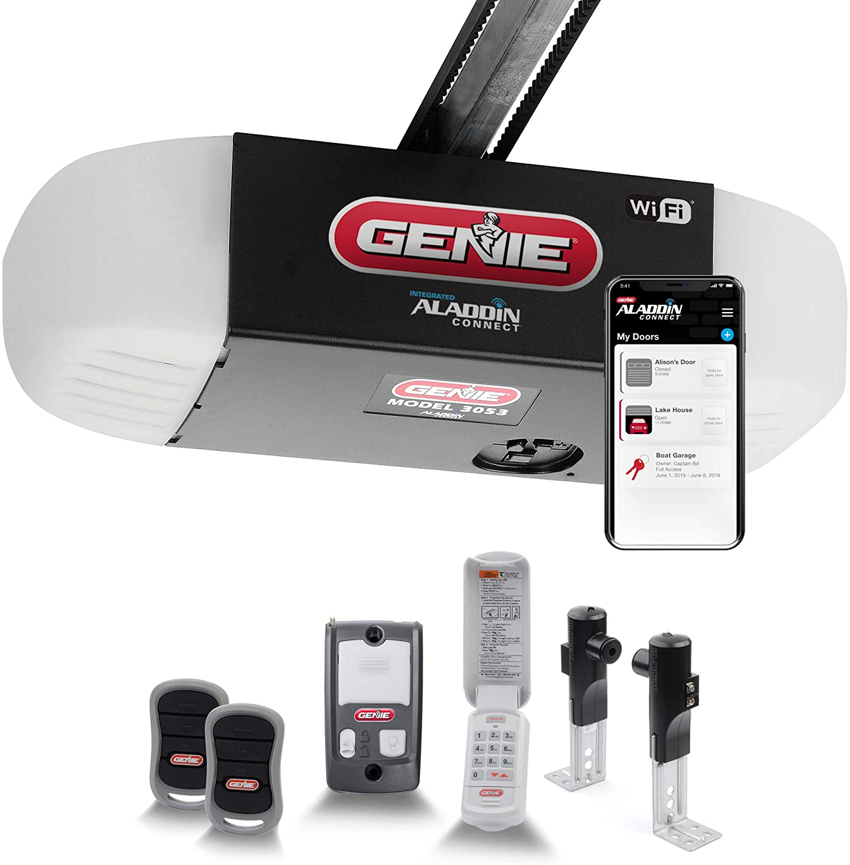 Genie QuietLift Connect – WiFi Smart Garage Door Opener with Added Wireless Keypad, ¾ HPC Smart Belt Drive