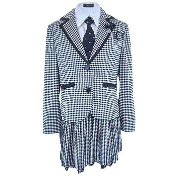 4dd3a8f789d10 卒業式 ギンガム スーツ フォーマル ゆったり 大きめサイズ 女児 女の子 ガールズ 冠婚葬祭 fo-