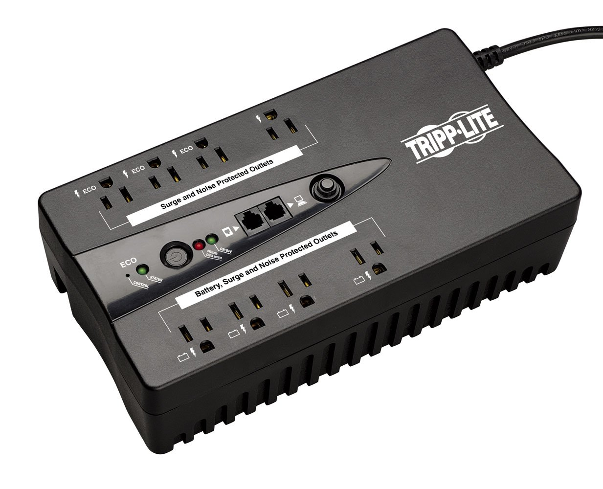 Tripp Lite ECO550UPSTAA 550VA 300W UPS Eco Green Battery Back Up 120V USB RJ11 TAA GSA, 8 Outlets by Tripp Lite
