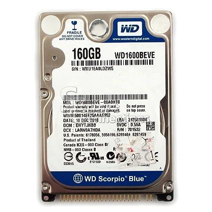 "Western Digital Scorpio Blue WD1600BEVT 160GB 2.5/"" SATA II Laptop Hard Drive"